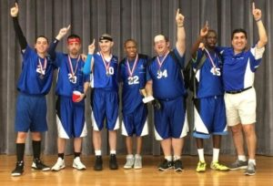 Steve Meek Fulcrum Group Special Olympics Basketball