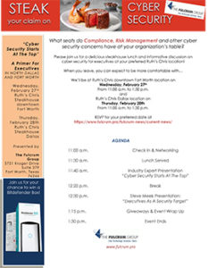 Download our Spring Lunch & Learn Cyber Security Event flyer