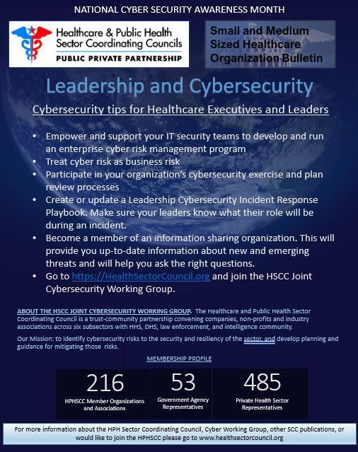 cybersecurity tips for healthcare execs and leaders