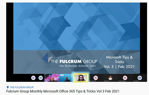Office 365 Tips & Tricks Training from The Fulcrum Group