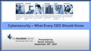 Cybersecurity for CEOs Lunch & Learn Event